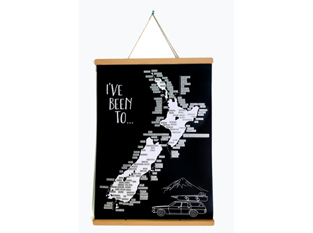 Moana Rd A2 NZ Road Trip Scratch Map with Poster Holder
