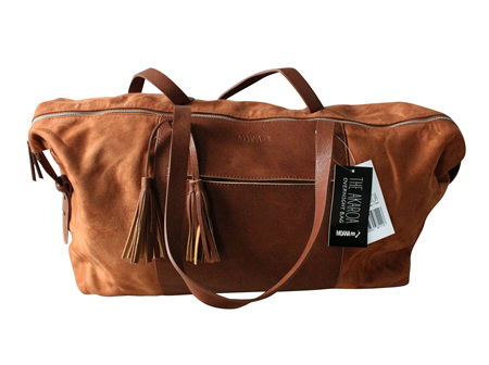 Moana Rd Akaroa Overnight Bag Tan
