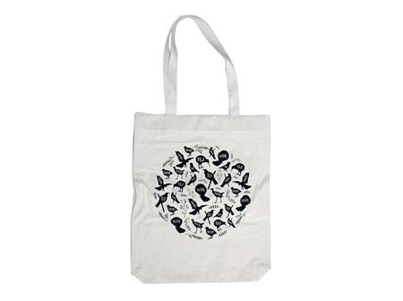 Moana Rd Bag Canvas Tote NZ Birds Coromandel