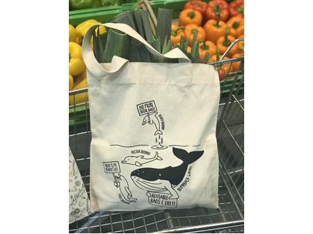 Moana Rd Bag Canvas Tote Whale Coromandel