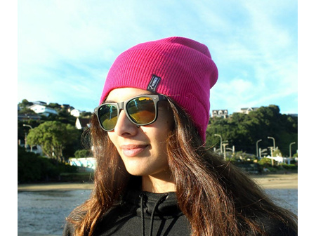 Moana Rd Beanie with Built in Wireless Headphones Pink