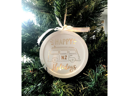 Moana Rd Christmas Light Happy Holidays
