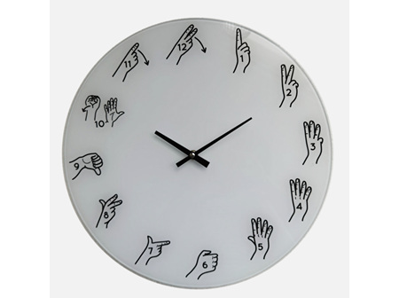 Moana Rd Clock Glass - NZ Sign Language