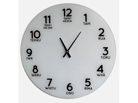 Moana Rd Clock Glass - Te Reo Numbers