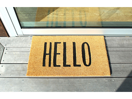 Moana Rd Doormat Hello