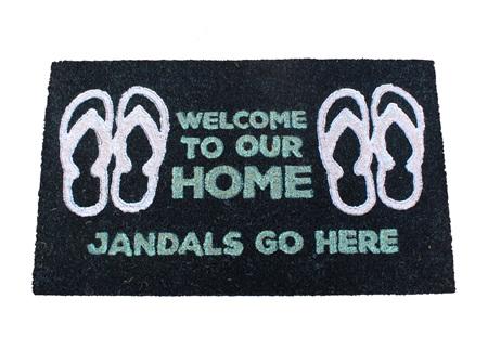 Moana Rd Doormat Jandals Go Here