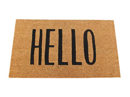 Moana Rd Doormats Hello