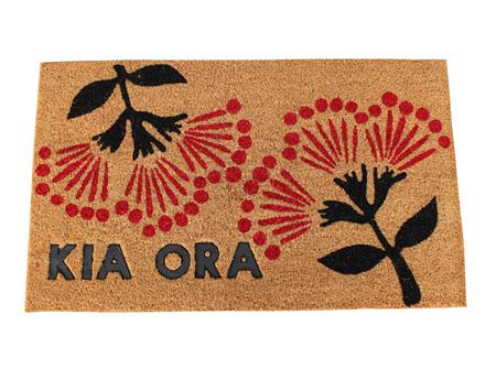 Moana Rd Doormats Kia Ora, Pohutukawa