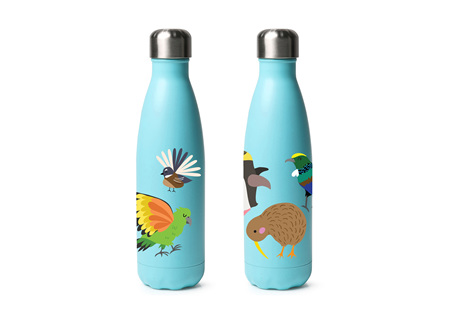 Moana Rd Drink Bottle Kids Kiwi Birds 500ml