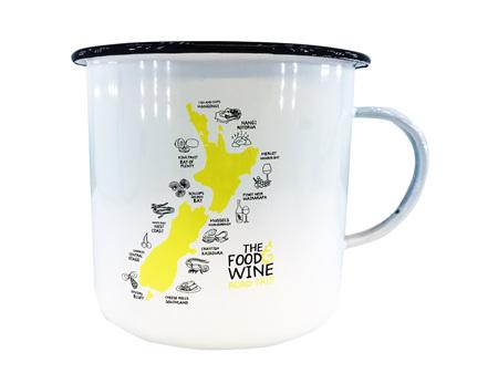 Moana Rd Enamel Mug Food and Wine  Small