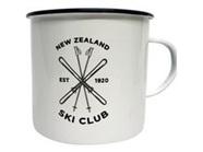Moana Rd Enamel Mug NZ Ski Club