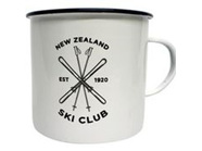 Moana Rd Enamel Mug NZ Ski Club  Large