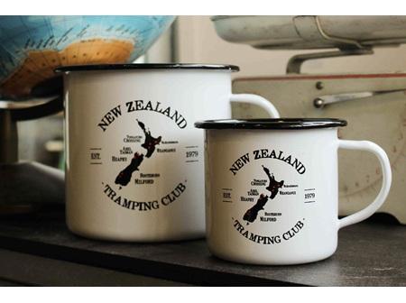 Moana Rd Enamel Mug NZ Tramping Large