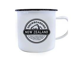 Moana Rd Enamel Mug Snowboarding New Zealand  Large
