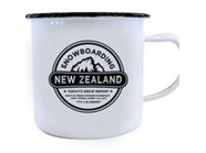 Moana Rd Enamel Mug Snowboarding New Zealand  Small