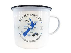 Moana Rd Enamel Mug Top Mountain Bike Small