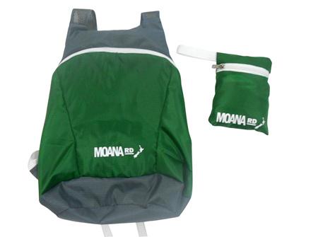 Moana Rd Foldable Back Pack Green