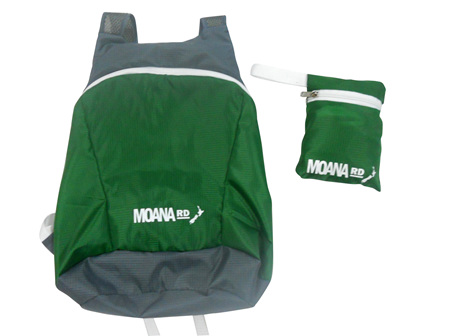 Moana Rd Foldable Back Pack Green