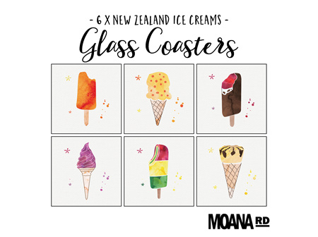 Moana Rd Glass Coasters NZ Ice Creams