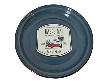 Moana Rd Haere Mai Enamel Plate Large