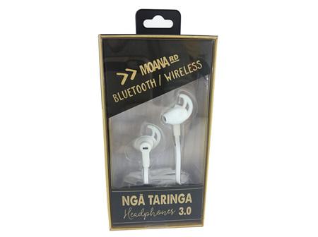 Moana Rd Headphones Nga Taringa 3.0  White