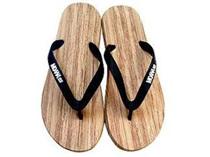 Moana Rd Jandals Wooden Look Black 43
