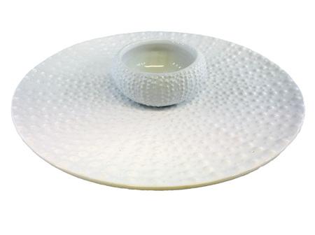 Moana Rd Kina Bowl/Plate Set White Large 30cm