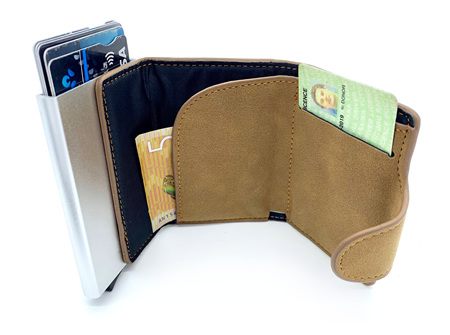 Moana Rd Mens pop up Wallet Tan