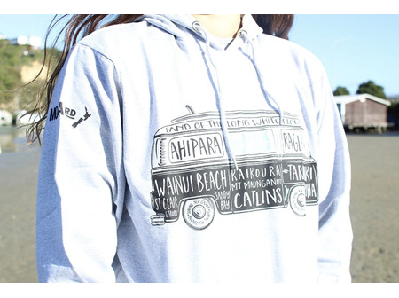 Moana Rd NZ Surfing Hoodie Grey XXL