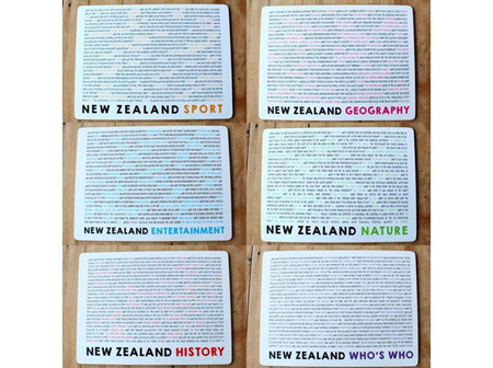 Moana Rd Placemats NZ Quiz