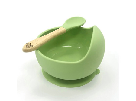 Moana Rd Silicone Suction Bowl & Spoon Green