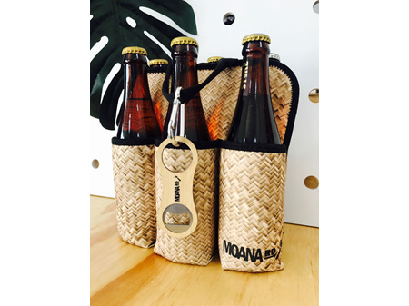 Moana Rd Six Pack Beer Holder Flax