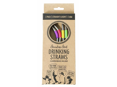 Moana Rd Straws Metal Reusable 4 straws with 2 Cleaners
