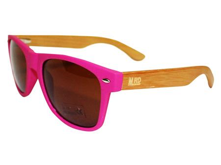 Moana Rd Sunglasses 50/50 Pink Frames Brown Lens