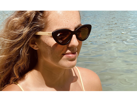 Moana Rd Sunglasses Bette Davis Black