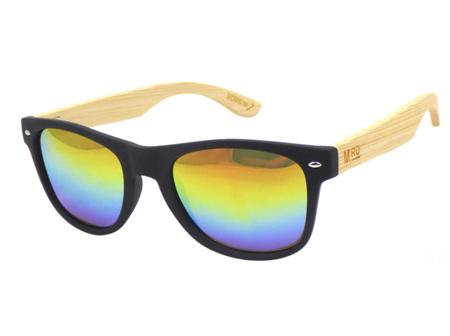 Moana Rd Sunglasses Black Rainbow Reflective Lens