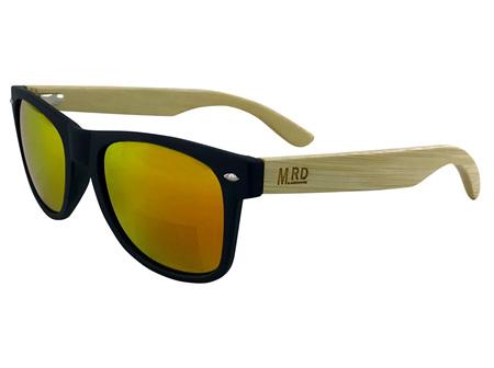 Moana Rd Sunglasses Black with Reflective Lens