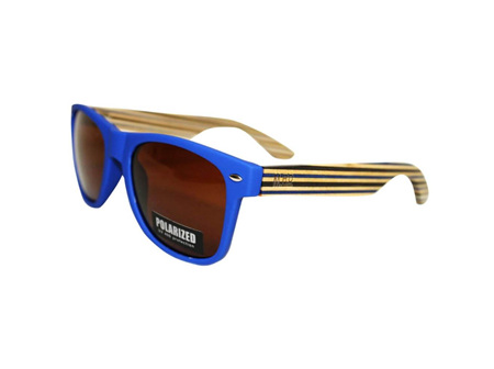 Moana Rd Sunglasses Blue with Striped Arms