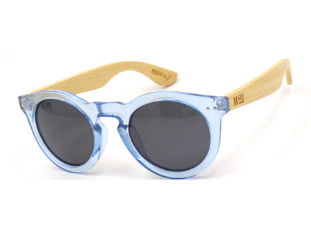Moana Rd Sunglasses Grace Kelly Ice Blue with Wood Arms