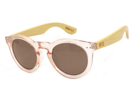 Moana Rd Sunglasses Grace Kelly Pink Wood Arms