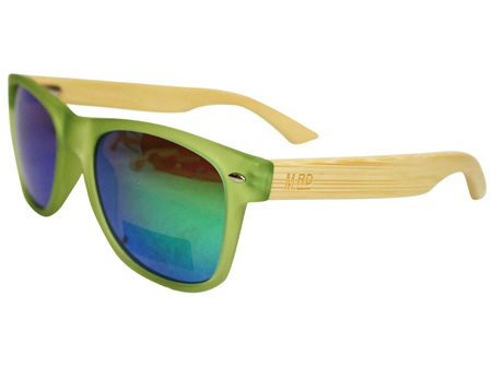 Moana Rd Sunglasses Green with Reflective Lens