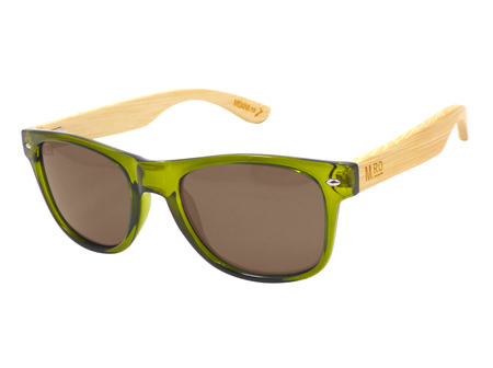 Moana Rd Sunglasses Olive Green with Wood Arms