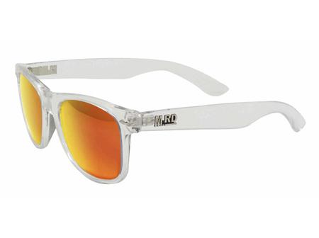 Moana Rd Sunglasses Plastic Fantastic Clear Frame Orange Reflective Lens