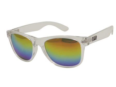 Moana Rd Sunglasses Plastic Fantastic Clear with Rainbow Lenses