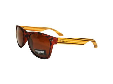 Moana Rd Sunglasses Tortoiseshell with Striped Arms