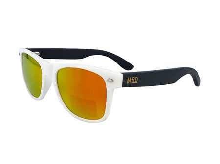 Moana Rd Sunglasses White with Reflective Lens