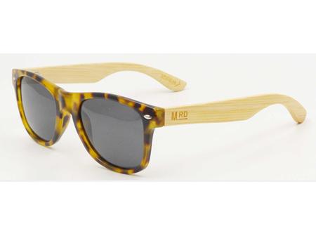 Moana Rd Sunglasses Yellow Tortoiseshell with Wood Arms
