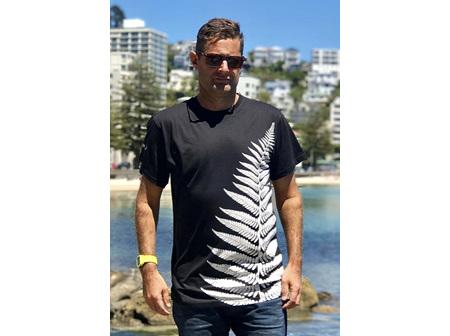 Moana Rd T Shirt Fern Black XL