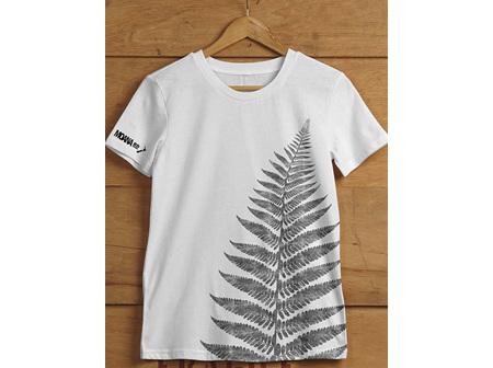 Moana Rd T Shirt Fern White M