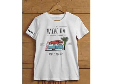 Moana Rd T Shirt Haere Mai White L